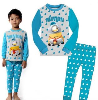 "Baby Kids Boys Girls Suit Sleepwear ""Minions Despicable Me"" Pajama Set Gift 3T"