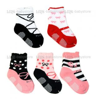 5 PR New Toddler Baby Girl Ballet Shoes Socks 12M 24M S54