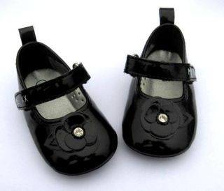 Baby Girl Black Mary Jane Patent Party Shoes Infant Crib Sandals US Size 1 2 3