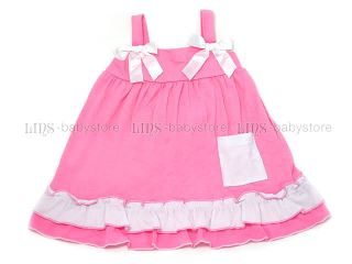 One Set Outfit Baby Girl Ruffle Dress w Pant Blommers Nappy Cover 1 2 3 4 Yr