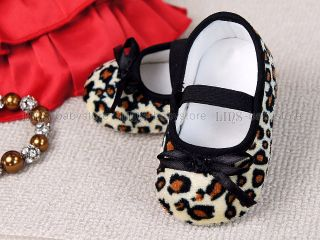 New Toddler Baby Girl Leopard Mary Jane EU Size 20 A884
