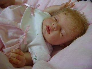 Beautiful Reborn Baby Doll Noah as A Girl by Reva Schick