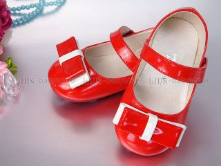 New Toddler Kids Girl Red Mary Jane Shoes Size 5 6 7 BS941