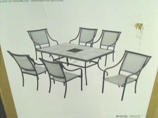 Hampton Bay Andrews 7 Piece Patio Dining Set $479 00