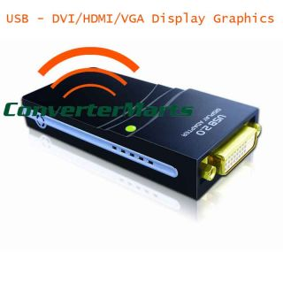 USB 2 0 to DVI HDMI VGA Adapter Converter Multi Display