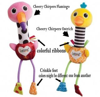 Infant Baby Kid's Lamaze Cheery Chirpers Soft Plush Rattle High Contrast Toys