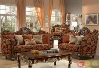 Formal Luxury Sofa Love Seat Chair Table 4 Piece Living Room Set HD 270