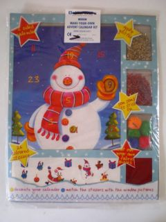 Make Your Own Advent Calendar Kit Christmas Decorations