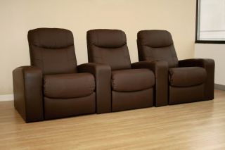 Home Theater Seating Recliner Movie Chairs 3 Seats