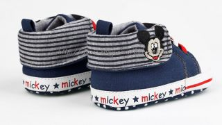 Baby Boy Sneakers Mickey Mouse Crib Shoes Size Newborn to 18 Months