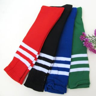 Football Socks Soccer Hockey Rugby Sport Stripes Mens Women Knee High Basketball