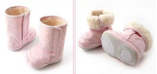 Baby Infant Toddler Shoes Boy Girls Fur Lining Warm Winter Snow Boots 6 24months