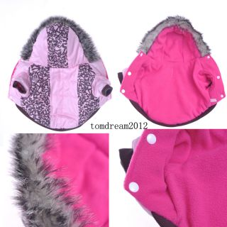 Autumn Winter Cute Pink Camo Dog Clothing Wear Coats Dog Jacket Sweater Clothes