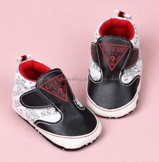 Black White Toddler Baby Boy Walking Shoes Sneakers Size 0 6 6 12 12 18 Months