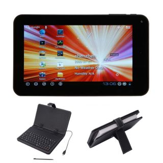 "7"" VIA8850 Android 4 0 Tablet 4GB Camera Black Mini USB Keyboard Case Bundle"