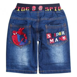 New Cool Toddlers Kids Boys Girls Spider Man Shorts Jeans Size 3 4 Years 100