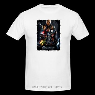 The Avengers V2 Movie T Shirt s XL White Marvel Iron Man Hulk Captain America