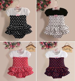 1pc Newborn Infant Baby Girl Polka Dot Romper Bodysuit Tutu Clothes One Piece