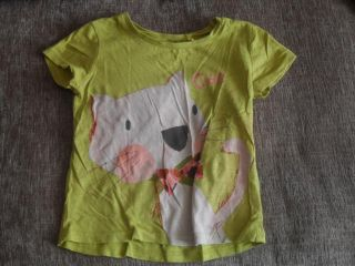 Next Baby Girls Green Short Sleeved Cat Picture T Shirt Top 12 18 Months
