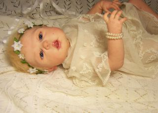 Reborn Baby Girl Soft Vinyl Like Silicone from Dakota Sculpt by s Michael