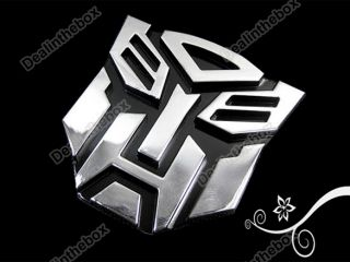 3D Mini Decal Transformers Autobots Car Auto Emblem Badge Sticker Awesome