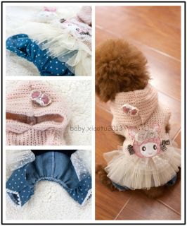Ballet Dog Sweater Dog Clothing Wear Coat Autumn Winter Warm Jacket Dog Clothes