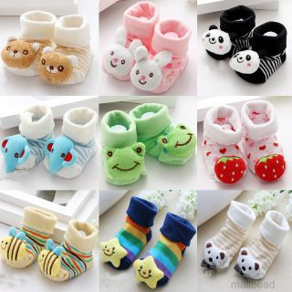 Baby Newborn Infant Toddler Girls Handmade Crochet Knit Socks Crib Shoes 3 12M
