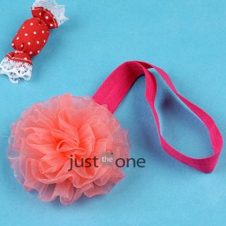 Cute Flower on Skinny Elastic Band Baby Infants Toddlers Girls Decor Headband