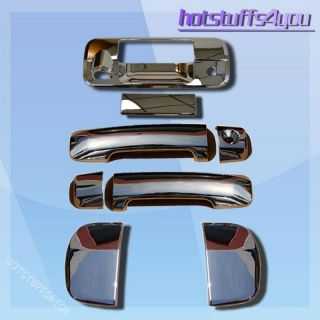 07 08 09 10 11 Toyota Tundra Double Cab Chrome Tailgate Door Handle Covers Set