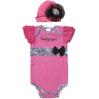 2pcs Newborn Kids Baby Girls Hat Cap Romper Bodysuits Sets Suit Clothes 0 12M