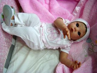 Beautiful Eyes Reborn Baby Girl Art Doll Lola Sculpt by Adrie Stoete 404 900