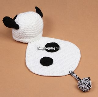 0 9 M Beanie Hat Cap Baby Girl Cloth Romper Panda Knit Photo Prop Outfit ES9P