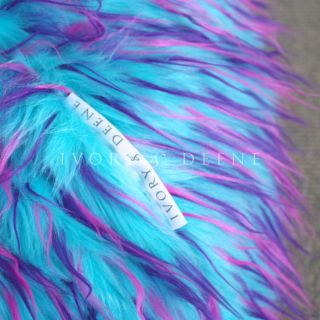 Large Lush Soft Shaggy Fur Bean Bag Blue Pink Cloud Chair Beanbag for Lounge
