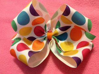 Novelty Print Baby Infant Toddler Big Girl Jumbo Extra Large Hair Bows U Pick