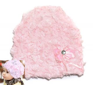 1pc Girls Baby Toddler Lace Flower Rose Bonnet Hat Cap Beanie Headwear Accessory