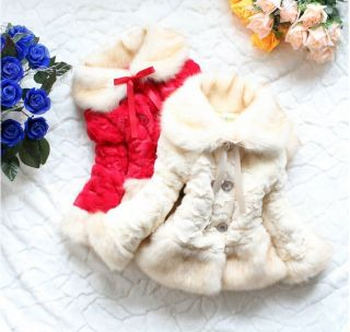 Junoesque Baby Girls Faux Fur Fleece Lapel Coat Kids Winter Warm Jacket Snowsuit