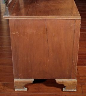 Antique English Art Deco Burl Walnut Tri Fold Mirror Chest Dresser c1930 BY56