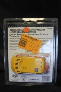 Hampton Bay 838 956 Home Indoor Thermostatic Ceiling Fan Light Remote Control