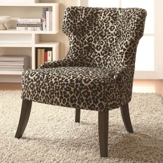 Leopard Print Transitional Accent Chair