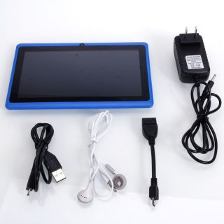 "7"" Capacitive A13 Android 4 0 Tablet 4GB Blue Micro USB Keyboard Case Bundle"