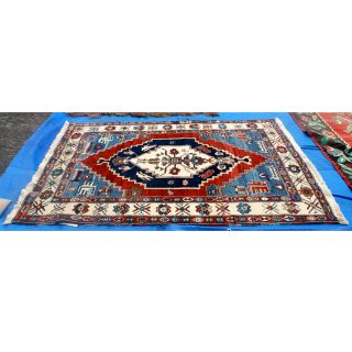 5ft x 7ft Vintage Azari Turkey Hand Woven Rug