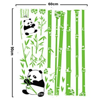 Cute Panda Bamboo Forest Removable Wall Sticker Decal