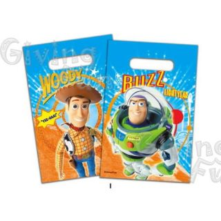 Authentic Disney Toy Story 3 Woody Buzz Birthday Party Supplies 6pcs Lootbags