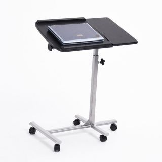 1pc Angle Height Adjustable Rolling Laptop Desk Portable Over Bed Folding Table