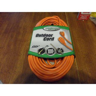 Coleman Cable 16 3 Vinyl Outdoor Extension Cord Orange 15 25 50 100 ft Feet