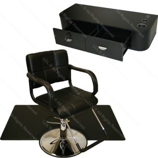 Hydraulic Barber Chair Wall Mount Styling Station Mat Beauty Spa Salon Equipment