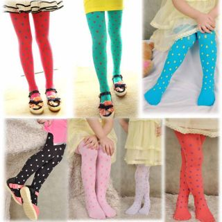 Spring Polka Dot Velvet Girls Clothing Baby Trousers Legging BB 032
