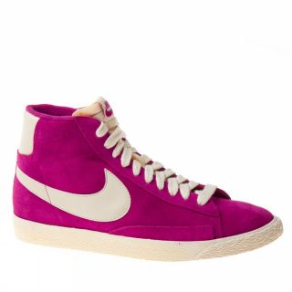 Nike Blazer Mid Suede Vntg US Size Fuchsia White Trainers Shoes Womens New