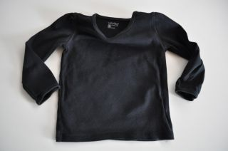 Baby Gap Girls Size 2T Long Sleeve Black T Shirt