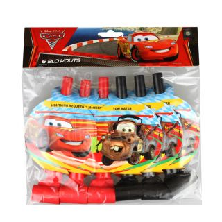 Authentic Disney Pixar Cars Lightning McQueen Birthday Party Supplies 6X BLOWOUT